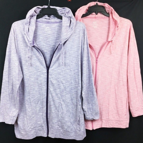 69402472a2a 2 JMS Pink Purple Zippered Hoodie 4X 26 28 Plus